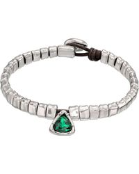 Uno De 50 All Stars Beaded Swarovski Crystal Accented Charm Bracelet - Green