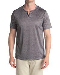Con.struct Short Sleeve Knit Henley - Gray