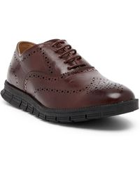Deer Stags Benton Lace-up Brogue Oxford - Wide Width Available - Brown