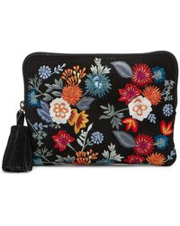 Lucky Brand - Super Bloom Floral Embroidered Zip Pouch - Lyst