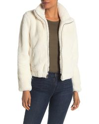 Lucky Brand Missy Two Tone Faux Fur Jacket - Natural