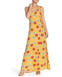 Onia - Grace Floral-print Crepe Maxi Dress - Lyst