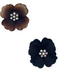 Natasha Couture Flower Resin Jaw Clips - Blue