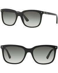 Prada - 54mm Rectangular Sunglasses - Lyst