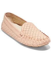 Cole Haan Eveyly Perforated Leather Driver - Multicolor