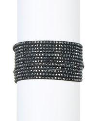 Swarovski - Slake Multi Row Crystal Wrap Bracelet - Lyst