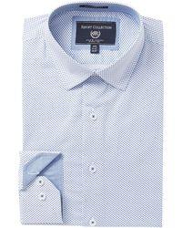 Report Collection - Diamond Print Modern Fit Dress Shirt - Lyst