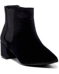 Fergie - Sandy Snake Embossed Velvet Boot - Lyst