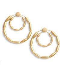 Rebecca Minkoff - Sadie Front Facing Double Hoop Earrings - Lyst