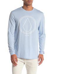 Volcom Pinline Long Sleeve T-shirt - Blue