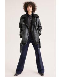 Avec Les Filles - Faux Shearling Biker Jacket (plus Size) - Lyst