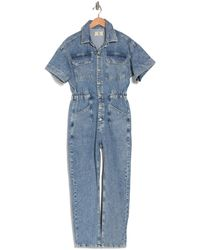 Free People Marci Denim Coverall - Blue