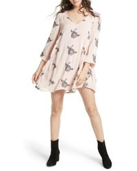 Free People - Emma Embroidered Swing Dress - Lyst