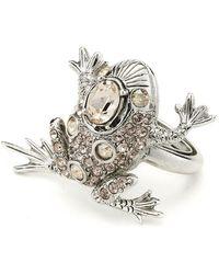 Oscar de la Renta - Crystal Frog Ring - Lyst