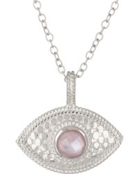Anna Beck - Sterling Silver Amethyst Third Eye Necklace - Lyst