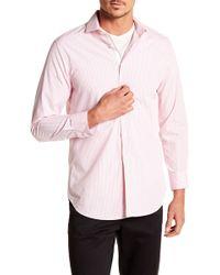Michelsons Of London - Fancy Stripe Print Slim Fit Shirt - Lyst