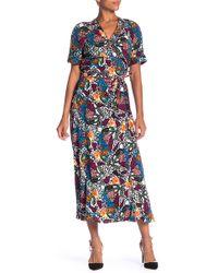 5e4b3c1097ceab Veronica Beard - Serena Patterned Wrap Dress - Lyst