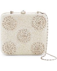 G-Lish - Beaded Medallion Squared Hard Case Clutch - Lyst