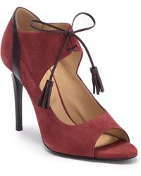 Longchamp La Barrone Suede Stiletto Heel Sandal - Multicolor