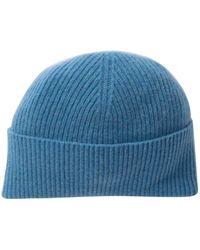3abfec37c65d2 Portolano - Ribbed Cashmere Hat - Lyst
