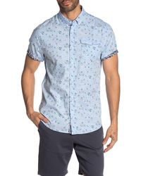 Report Collection - Short Sleeve Garden Floral Print Slim Fit Shirt - Lyst