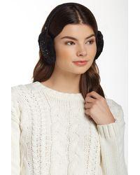 UGG - Lyla Sequined Genuine Shearling Wool Blend Earmuff - Lyst
