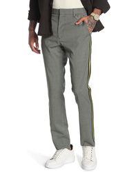 Valentino Plaid Side Stripe Pants - Gray