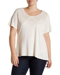 Halo - Embroidered Short Sleeve Tee (plus Size) - Lyst