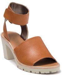 The Flexx Big Enough Block Heel Sandal - Brown