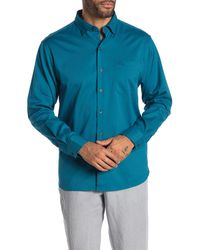 Tommy Bahama Oasis Twill Original Fit Long Sleeve Shirt - Blue