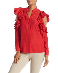 Chelsea and Walker - Ruffled Silk Top - Lyst