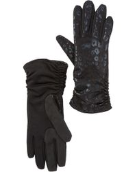 Guess - Touchpoint Leopard Print Smart Gloves - Lyst