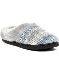 Dearfoams | Chunky Faux Fur Trim Space Clog | Lyst