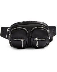 TOPSHOP Faux Leather Belt Bag - Black