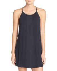 Midnight By Carole Hochman - Satin Trim Chemise - Lyst