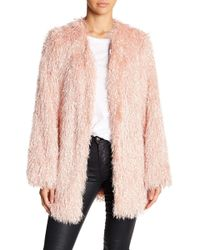 Mustard Seed Open Front Chunky Coat - Pink