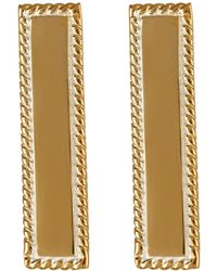 Anna Beck - 18k Gold Plated Sterling Silver Bar Stud Earrings - Lyst