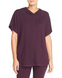 Midnight By Carole Hochman - Hooded Pullover Top - Lyst