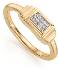 Monica Vinader Baja Deco Diamond Ring - Metallic