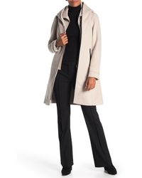 SOIA & KYO Wool Blend Hooded Coat - Multicolor