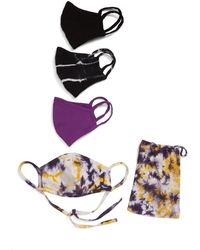 Nordstrom Tie-dye Adult Face Mask - Pack Of 4 - Purple