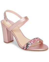 BP. Lula Block Heel Slingback Sandal (women) - Pink