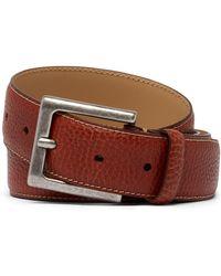 Tommy Bahama - Italian Pebbled Leather Belt - Lyst