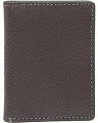 Fossil - Richard Leather Credit Card Wallet - Lyst