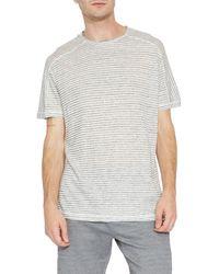 Civil Society Abilene Striped Linen Blend T-shirt - White