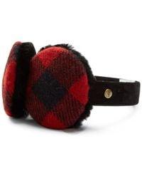 UGG - Leather & Genuine Shearling Mclain Ear Muffs - Lyst
