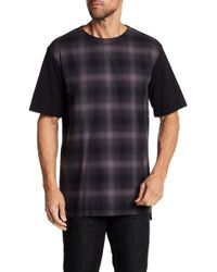 Helmut Lang - Combo Partial Plaid Tee - Lyst