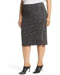 47022be8afe Halogen - (r) Side Zip Ponte Pencil Skirt (plus Size) - Lyst