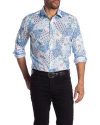 Robert Graham Cranbrook Long Sleeve Classic Fit Shirt - Blue