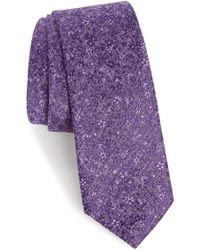 Calibrate - Lindsay Floral Print Silk & Cotton Tie - Lyst